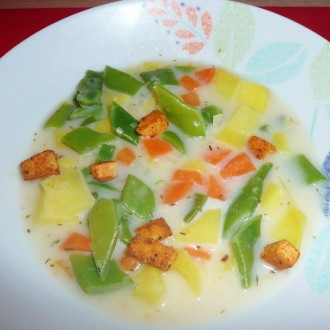 Grüne-Bohnen-Suppe