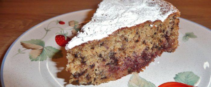 Buchweizenkuchen mit Preiselbeeren